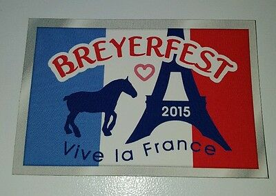 Breyerfest 2015 VIVE LA FRANCE Roy Eiffel Tower Graphic Design Horse Magnet