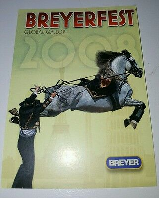 Breyerfest 2008 GLOBAL GALLOP Alborozo Andalusian Informative Trading Card