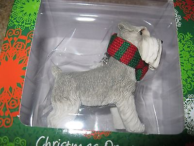 Sandicast Schnauzer Christmas Ornament - New in Box - Dog - Hand Cast and Paint