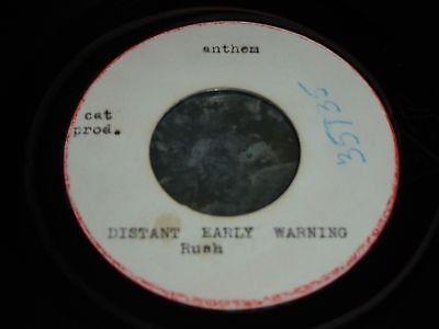 """RUSH CANADIAN ACETATE DISTANT EARLY WARNING 45 / 7"""" Anthem / Cat Prod 1984"""