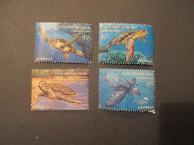 No-43--2002  TURTLES   -COCOS  ISLAND  ISSUED  STAMPS --4   USED