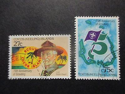 No-2---1982   COCOS   ISLAND- SCOUTING    ISSUE'S--2    STAMPS  --CTO -A1