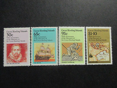 No-2--1984  COCOS   ISLAND- 375 th  ANN;  OF  DISCOVERY  --4  STAMPS -MINT  -A1