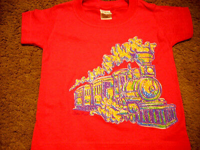 Pink Painted With Glitter Train Short Sleeve T Shirt (  Size 3T) New!!!