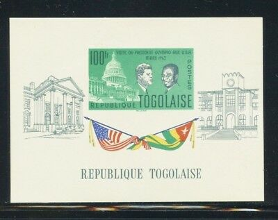 Togo Scott #437a MNH Presidents Olympio and JFK CV$5+