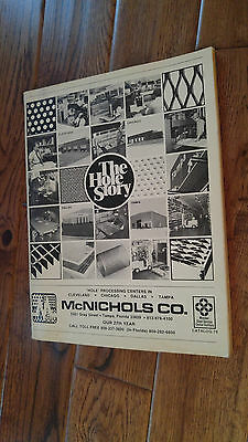 "Vintage ""the Hole Story"" Mcnichols Co Catalog Tampa Fl Metal Wire Cloth Grating"