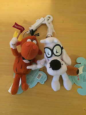 Bullwinkle and Peabody Keychains