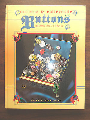Antique and Collectible Buttons Identification Value HB Book