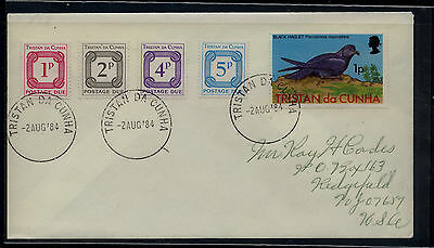 Tristan da Cunha  postage due stamps on cover         KL0829