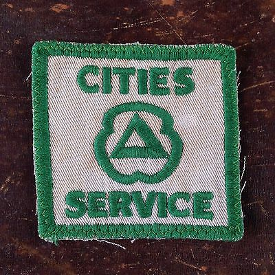 Vintage Cities Service Gasoline Uniform Patch Sew On Gas & Oil Advertising