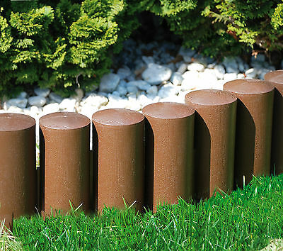 Very Strong Garden fence lawn edging boarder edge palisade fencing plastic