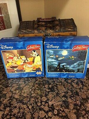 Disney Gallery Series  Gallery 1000 Piece Wood Puzzle Set Of Two