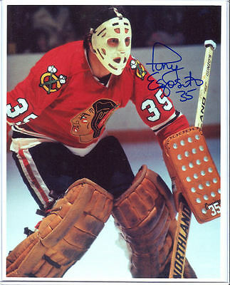 Signed Tony Esposito Chicago Blackhawks Photo Hof 1
