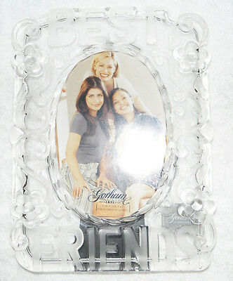 Gorham Crystal Sentimental Traditions Best Friend Glass Frame 4x6 Made Germany