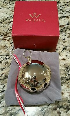 Wallace 2015 Gold Sleigh Bell NIB EXCELLENT.