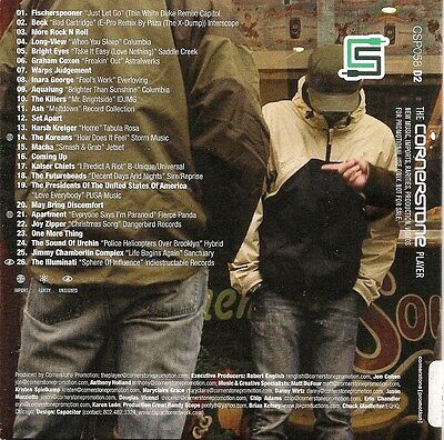 CORNERSTONE PLAYER 58 (058) CD2 of set ONLY 26t KILLERS Kaiser Chiefs