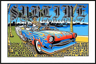 Marco Almera Sublime Snoop Dogg Wyclef Refugee Camp Pharcyde Remix 1997 Poster