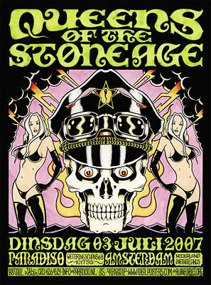 Alan Forbes Queens Of The Stone Age Poster Paradiso