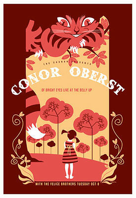 Scrojo Conor Oberst The Felice Brothers Belly Up Tavern 2013 Poster Oberst_1310