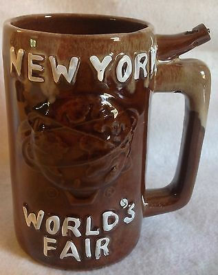 Vintage New York Worlds Fair Pottery Whistle For Your Beer Mug