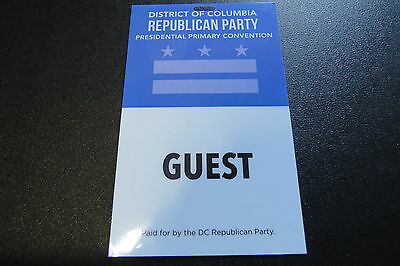 District of Columbia Republican Party Presidential Primary Convention Credential