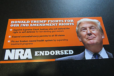 Donald Trump Election Day Reminder Card - NRA Endorsed & 2nd Amendment Values!