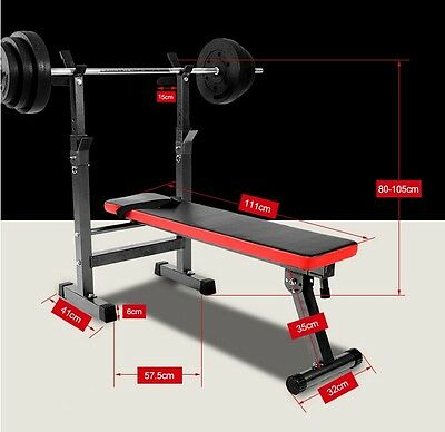 Folding Sit Up Weight Bench Barbell Dip Station Lifting Chest fitness Gym Home
