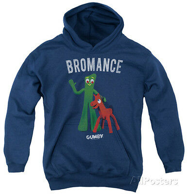 Youth Hoodie: Gumby - Bromance Apparel Pullover Hoodie - Navy