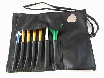 9 in 1 Repair Screwdriver Pry Bar Open Set Leather PU Tool bag for mobile phone