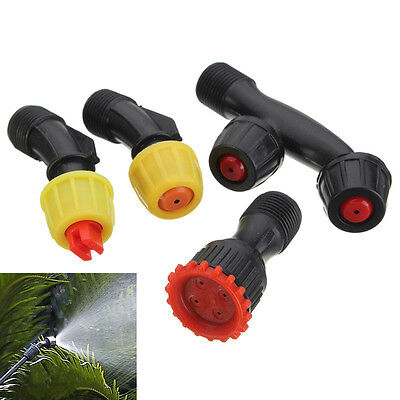 4pcs Durable Spray Nozzles Male Thread Nozzles for Weed Sprayer & Pest Control
