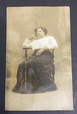 Vintage African American Photo Real Post Card