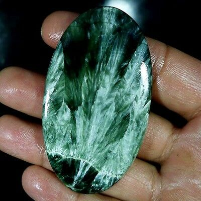 107.15Cts. Natural Designer Green Seraphinite Oval Cabochon Big Loose Gemstones