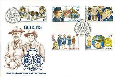 Girl Guide First Day Cover Isle of Man Post Office 1985