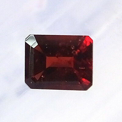 9X7 MM Octagon Natural Unheated Mozambique Red Garnet Faceted Gemstone 3.15 Ct