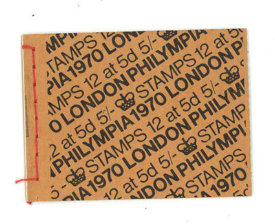 GB 1970 HP34 stamp booklet. VF mint condition.