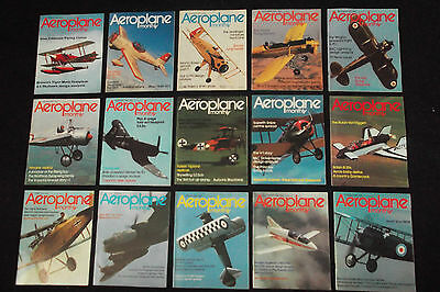 Aeroplane Monthly, In Near Mint Condition, 1973-1994, Sold Individually