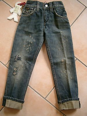 (H104) RARE-The Kid Boys dirty used look Jeans Hose asymetrische Taschen gr.110