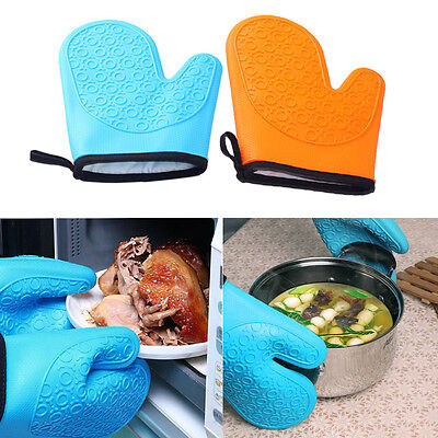 Kitchen Cooking Silicone microwave oven gloves Take Heat Clamp Non slip Glove