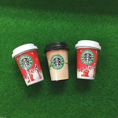Accessories Coffee Miniature Starbucks Hot Drink 3PCS ❤ re-ment Size #601