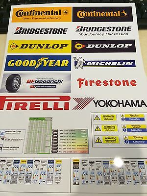 1/18 Scale TYRE BAY SHEET FOR DIORAMA