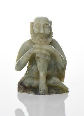 Asian Hand Carved Furong Stone Of A Seated Bea Lot 117