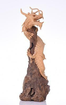 Dragon Sculpture Wrapped Around Driftwood. Es Lot 137