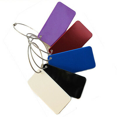 Travel Luggage Bag Tag Name Address Label Aluminum Alloy Suitcase Baggage Tags