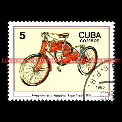 KAYSER Tricycle Triciclo 1910 - Moto Timbre Poste - Classic Motorcycle Stamp