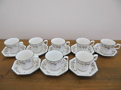 Johnson Brothers 8 Teacups And Saucers