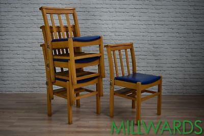 Vintage Church Stacking Stackable Dining Cafe Bar Chairs 60 AVAILABLE (inc VAT)