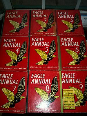 Eagle Annual Numbers 1 to 9 in Good condition