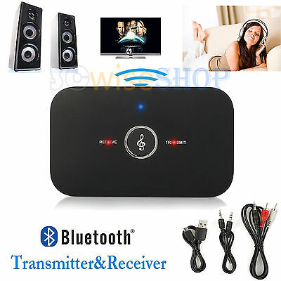 Wireless Bluetooth 2 in 1 Stereo Audio Music Transmitter and Receiver for PC TV