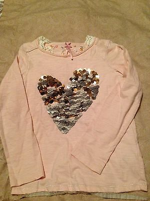 Girls Next Heart Sequin Top Age 6 Years