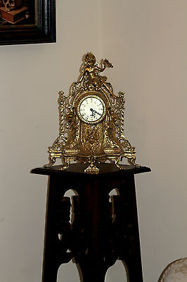 Antique French Bronze/Brass Mantel Clock with Dionysus Figure